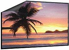 Fußmatte Sonnenuntergang mit Palmen B x H: 85cm x 60cm von Klebefieber®