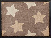Fußmatte Stars, braun (38/59 cm)