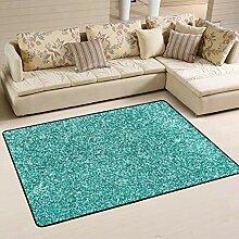 Fußmatte Stilvoller türkisblauer Teppich mit
