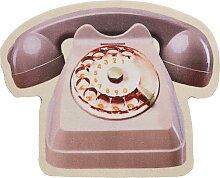 Fußmatte Telefon, grau (45/55 cm)