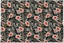 Fußmatte Tropische Blätter Blumen weich und