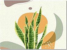 Fussmatte Tropische Pflanze Blätter Teppich Für
