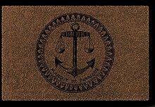 FUSSMATTE Türmatte ANKER Maritim Dekoration