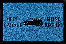 FUSSMATTE Türmatte MEINE GARAGE MEINE REGELN