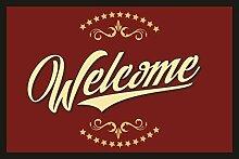 Fußmatte Türmatte Schmutzfangmatte mit Motiv: Welcome 215