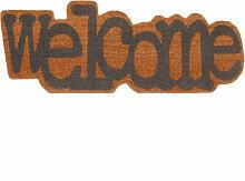 Fußmatte Welcome aus Kokosfaser 35x90