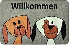 Fußmatte Willkommen Hundezwillinge Elsa Brayden
