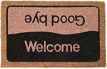 Fußmatten Fußabtreter Schmutzfangmatte Türmatte Bodenmatte Abtreter Läufer Teppich Türvorleger Kokosfaser 9 Designs Farbe Welcome