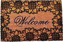 Fußmatten Fußabtreter Schmutzfangmatte Türmatte Bodenmatte Abtreter Läufer Teppich Türvorleger Kokosfaser 9 Designs Farbe Sunflower