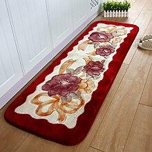 Fußmatten/Fußmatte/ Eingang-Lobby-Bar-Pad/Verdickte Skid Bett Wohnzimmer-Schlafzimmer-Pad-B 55x165cm(22x65inch)