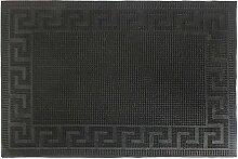 Fussmatten Gummi Fußabtreter Schmutzfangmatte Türmatte Bodenmatte Abtreter Läufer Teppich Türvorleger 3 Designs Farbe Athen