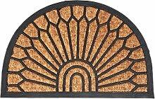 Fußmatten Kokosfaser mit Gummi Fußabtreter Schmutzfangmatte Türmatte Bodenmatte Läufer Teppich Türvorleger Abtreter 3 Designs Farbe Fächer