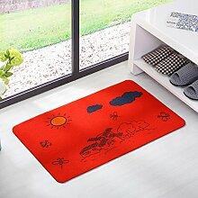 Fußmatten non slip boden decken schlafzimmer living zimmer tür patio einfahrt footcloth tür-P 20*59inch(50*150cm)