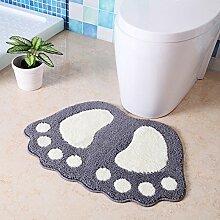 Fußmatten/Rutschfeste Badematte/Fußmatten/Bad Dusche Türmatte/Wasser Absorption Skid pad-F 40x60cm(16x24inch)