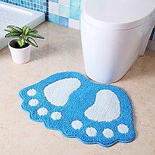Fußmatten/Rutschfeste Badematte/Fußmatten/Bad Dusche Türmatte/Wasser Absorption Skid pad-H 40x60cm(16x24inch)