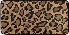 Fußmatten Teppich Teppiche Chinese Leopard Gold