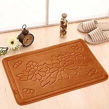 Fußmatten,Tür Anti-rutsch Matten Bad WC Wasser,Matte/Kissen,Schlafzimmer 3D Mat-F 60x90cm(24x35inch)