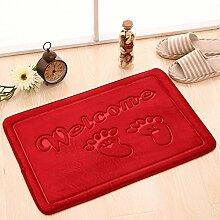 Fußmatten,Tür Anti-rutsch Matten Bad WC Wasser,Matte/Kissen,Schlafzimmer 3D Mat-L 60x90cm(24x35inch)