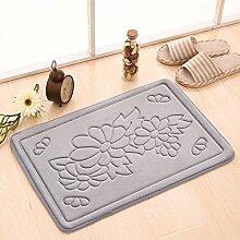 Fußmatten,Tür Anti-rutsch Matten Bad WC Wasser,Matte/Kissen,Schlafzimmer 3D Mat-J 50x80cm(20x31inch)