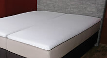 Fußteileinschnitt), 160x200 cm, weiß