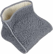 Fußwärmer Lammflor Fussack Wärmeschuh Zehenwärmer Einheitsgröße Auswahl: grau - hellgrau