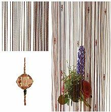 FUT String Quaste Kristall Perlen Vorhang,