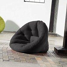 Futon Sessel in grau, Maße B/H/L ca. 90/14-75 / 95-180 cm