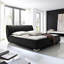 Futonbett in Schwarz mit Bettkasten