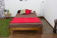 Futonbett Kiefer 120 x 200 cm Eiche