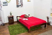 Futonbett Kiefer 120 x 200 cm Nuss