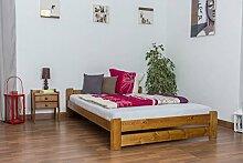 Futonbett Kiefer 140 x 200 cm Natur mit Lattenros