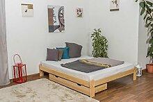 Futonbett Kiefer 160 x 200 cm Natur