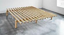 Futonbett Liri, 140x200 cm, Kiefer lackiert