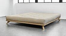 Futonbett Nespolo, 160x200 cm, Kiefer lackiert