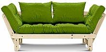 Futonsofa Beat mit Futon 6.0 Kokos 80x200 cm (Lime