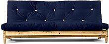 Futonsofa Fresh mit Futon 4.0 Basic 140x200 cm (Marine/Kiefer unbehandelt)
