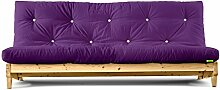 Futonsofa Fresh mit Futon 4.0 Basic 140x200 cm (Purple/Kiefer unbehandelt)