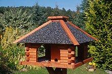 Futterhaus / Vogelhaus mit Strukturputzdach und