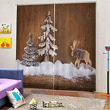 FutuHome 2X Weihnachtsthemen Fenster Tür