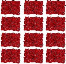 FutuHome Künstliche Blumen-Wandpaneele für