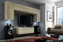 FUTURE 2 Zeitnah Wohnwand Wohnzimmer Möbelset,