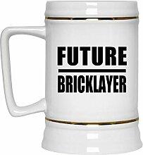 Future Bricklayer - Beer Stein Bierkrug Keramik