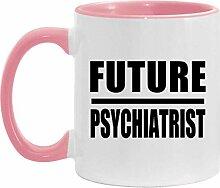 Future Psychiatrist - 11oz Accent Mug Pink