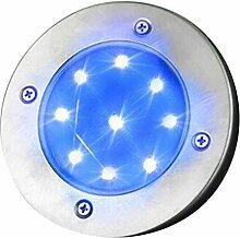 Futurepast 1 Stück,9 x LED Lampenperlen Solar