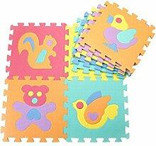 Futurepast 10 Stück Kinder Puzzle Teppich Platten