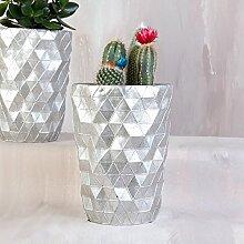 Futuristische Geometrische Silber Übertopf