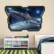 Futuristisches Raumschiff Wandkunst Aufkleber