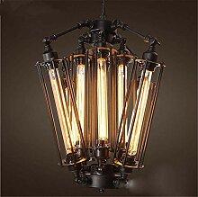 FuweiEncore Vintage Black 8 LED Kopf Lampe Cafe
