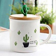 FUXIAOCHEN 350 Ml Cartoon Kaktus Becher Kreative