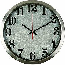 FUXINGXING 12 Zoll Edelstahl Uhr kreative Mode Wohnzimmer Wanduhr, D